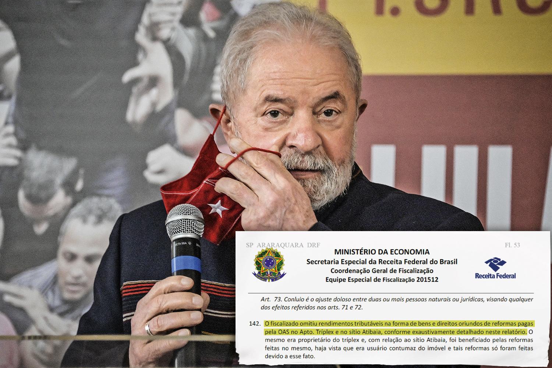 """COBRANÇA -Lula: livre das condenações por corrupção, ele ainda enfrenta milionários processos tributários. Documento da Receita mostra que """"o fiscalizado omitiu rendimentos"""" -"""