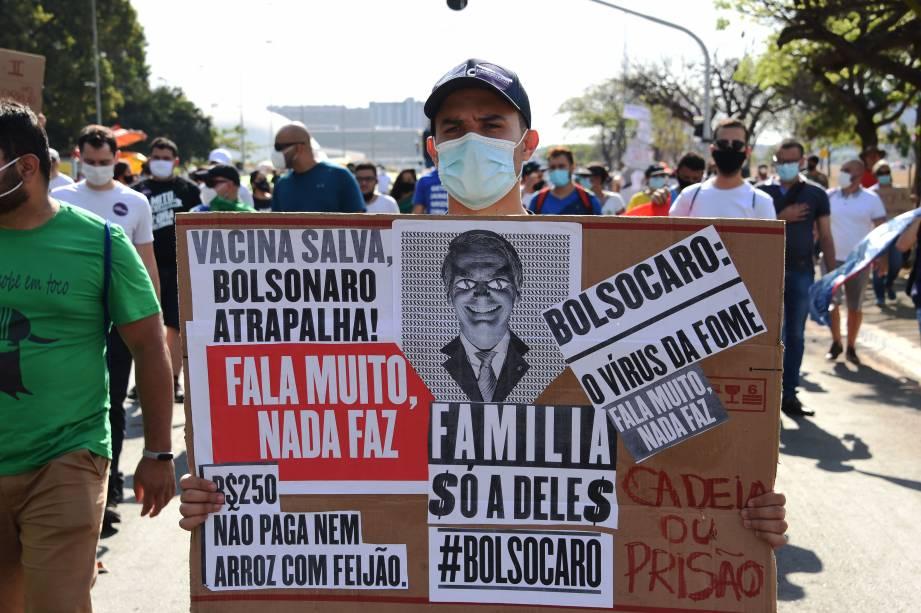 Protesto contra o presidente Jair Bolsonaro, em Brasília -