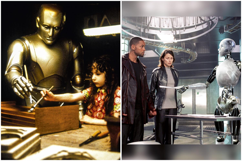 NÓS E ELES- O Homem Bicentenário (à esq.) e Eu, Robô: visão transformadora sobre a inteligência artificial -