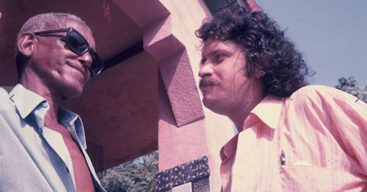 O produtor musical Pelão ao lado do compositor Cartola