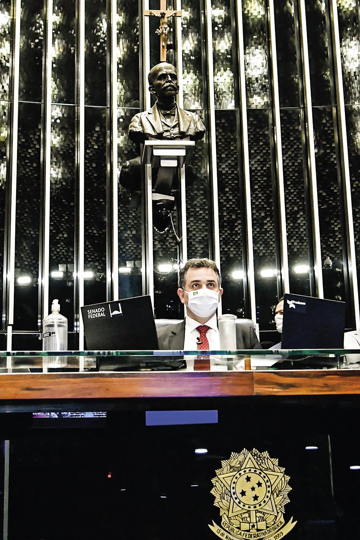 INDEPENDÊNCIA - Pacheco, do Senado: difícil reaproximação com o Ministério da Economia -
