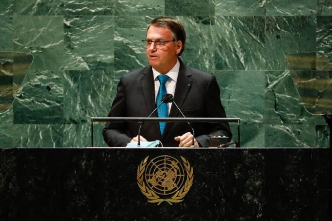 O presidente Jair Bolsonaro discursa na Assembleia Geral da ONU – 21/09/2021 –