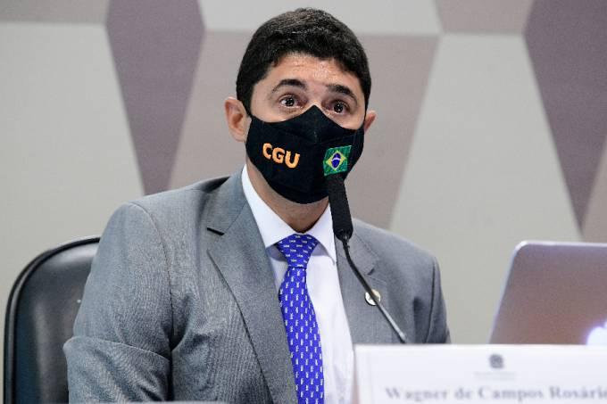 Wagner Rosário, ministro da Controladoria-Geral da União (CGU), durante depoimento à CPI da Pandemia – 21/09/2021 -(1)