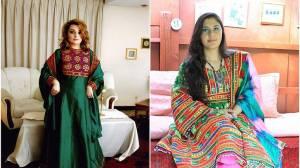 Mulheres afegãs compartilham fotos em trajes tradicionais em protesto contra o Talibã