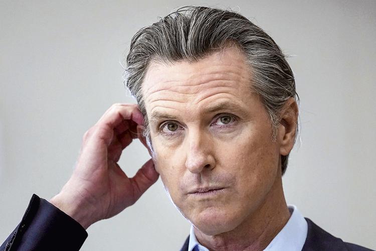 EM CAMPANHA -O democrata Newsom: apelos ao eleitorado desmotivado -