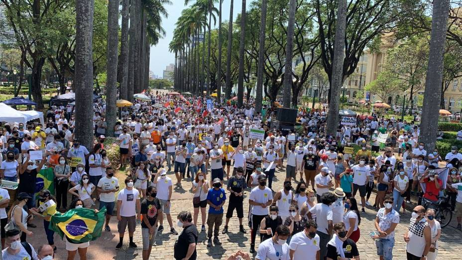 Ato na Praça da Liberdade, em Belo Horizonte