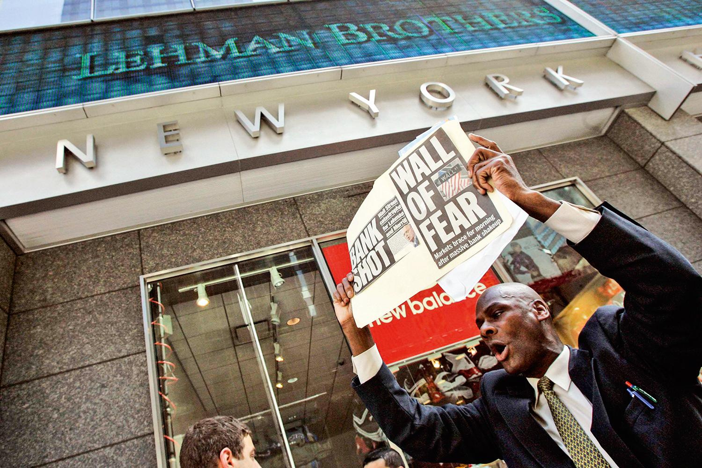 TRISTE LEMBRANÇA -A quebra do Lehman Brothers, em 2008: a situação atual será tratada de forma diferente -