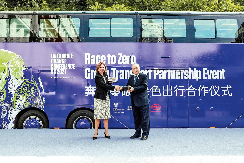 LÍDER- Ônibus da chinesa BYD também no Reino Unido: maior do mundo -