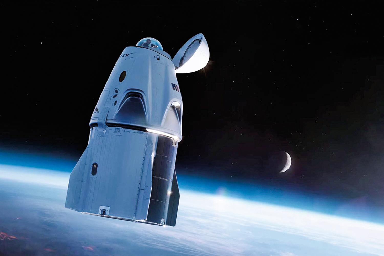 A NAVE -A cápsula Dragon com o domo na ponta: vista privilegiada do cosmo -