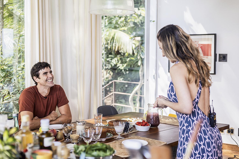 RECEITAS -Gianecchini e a chef Dani: o preparo criativo dos pratos é fundamental -