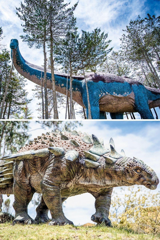 POTENCIAL ECONÔMICO -Saurópode (acima) e anquilossauro (abaixo): sítios paleontológicos podem se tornar atrações turísticas -