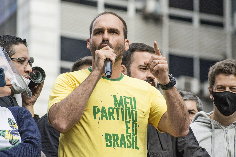 DE SAÍDA- Eduardo Bolsonaro: aliados do presidente devem deixar o PSL -