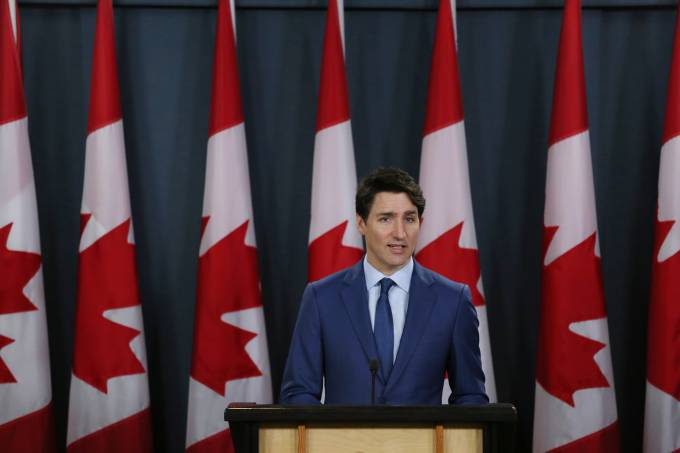 Canadian Prime Minister Justin Trudeau Holds Press Conference To Address Corruption Scandal