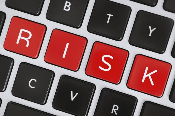 Risk Word on Computer Keyboard Keys