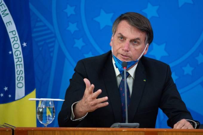 President Jair Bolsonaro and Health Minister Luiz Henrique Mandetta Hold a Press Conference about the Coronavirus (COVID-19)