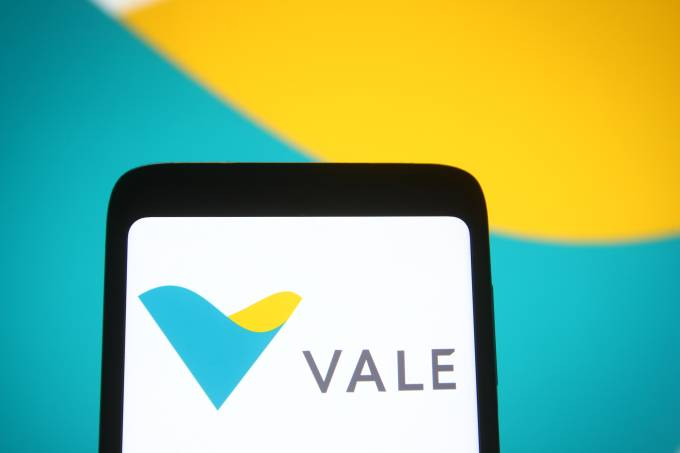 In this photo illustration a Vale logo of Vale S.A.