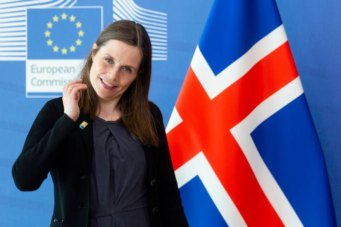 Katrín Jakobsdóttir Visits The EU Commission