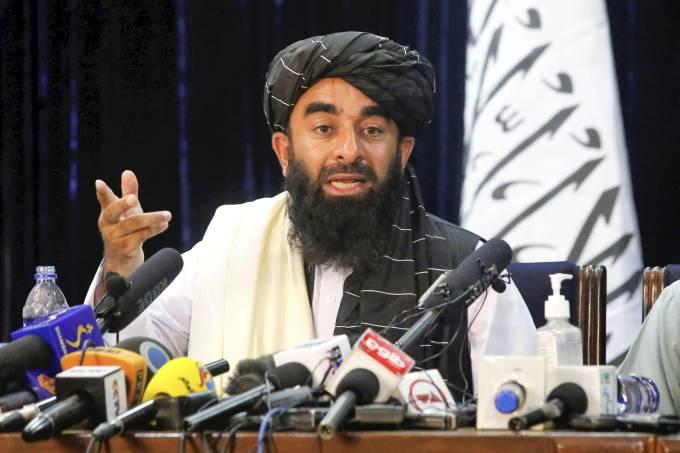 Taliban spokesman at press conference