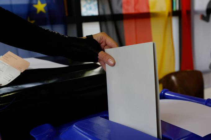 Voters Go To The Polls In Federal Elections