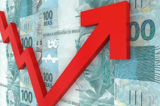 Brazilian money growth chart graph investment