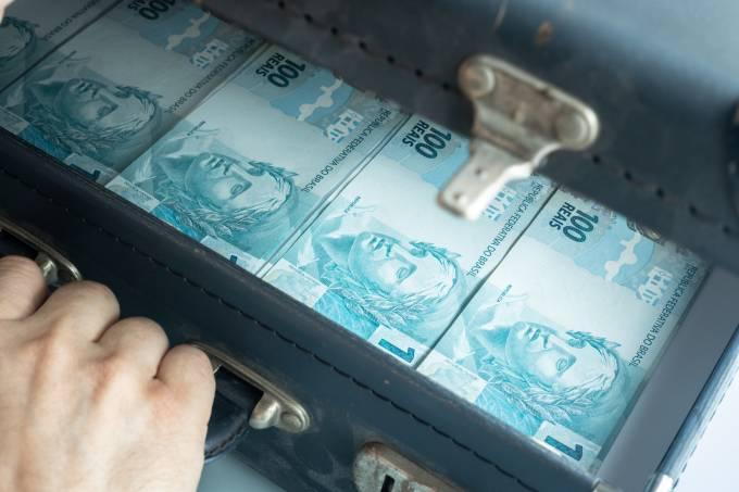 A suitcase full of Brazilian money,