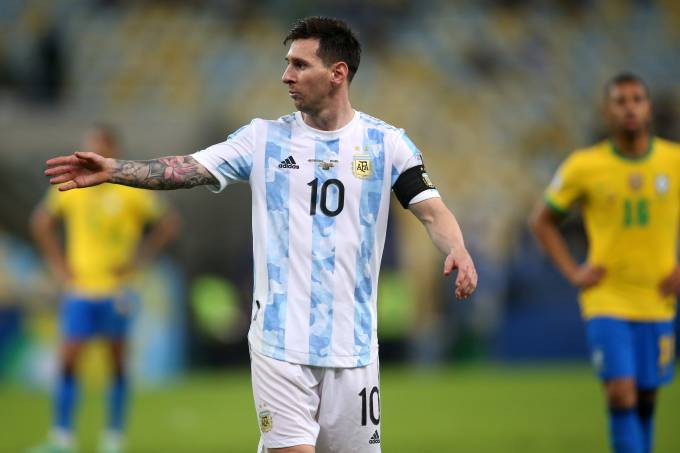 Lionel Messi na final da Copa América contra o Brasil