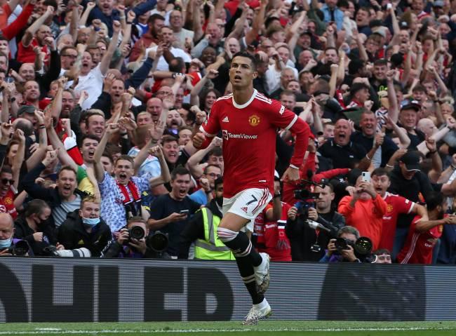 Cristiano Ronaldo celebra seu gol pelo Manchester United