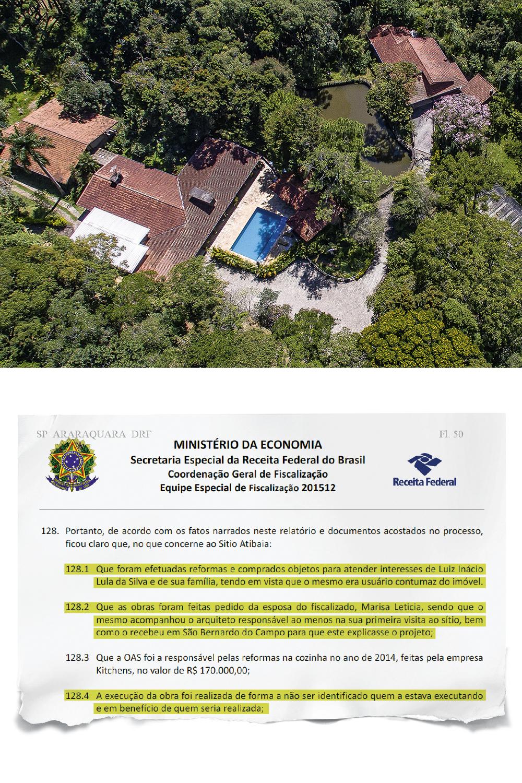 """LEÃO -Sítio em Atibaia, também citado na fiscalização da Receita: construção, reformas bancadas por empreiteiras para atender o ex-presidente, """"usuário contumaz do imóvel"""" -"""