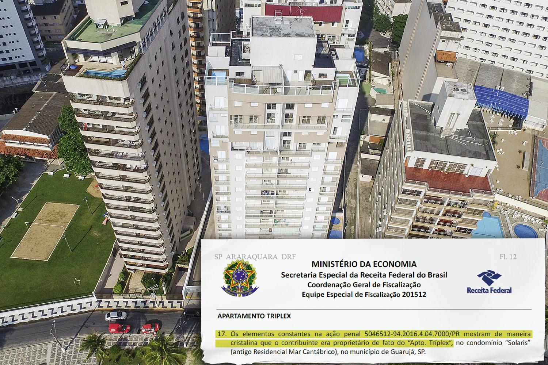 """""""CAIXINHA""""- Tríplex: ficou demonstrado """"de maneira cristalina"""" que o apartamento pertencia ao ex-presidente e reformas foram pagas por empreiteira -"""