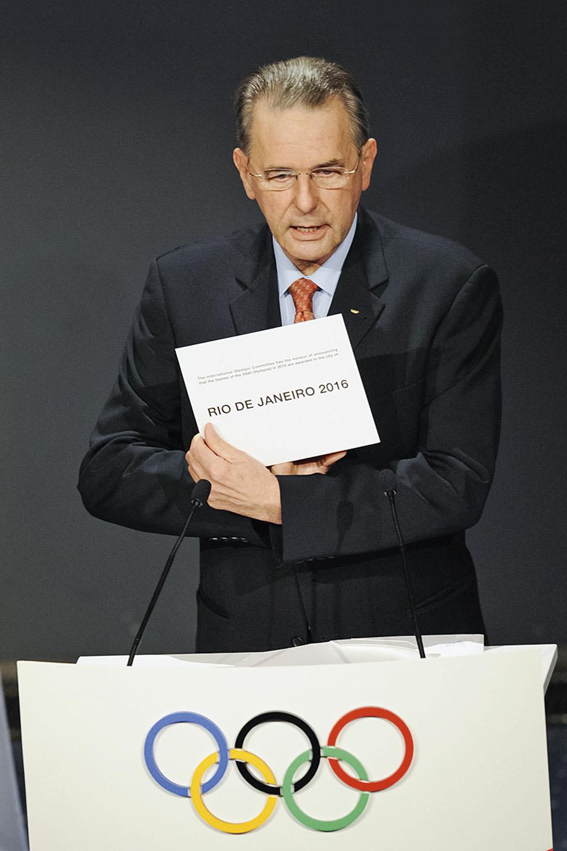 O ANÚNCIO- Em 2009, em Copenhague, o então presidente do COI anuncia o Rio de Janeiro como sede dos Jogos de 2016: vitória contra Madri e Chicago -