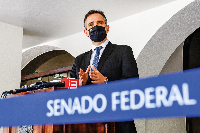 AQUI, NÃO -Rodrigo Pacheco (DEM-MG): rejeição de Medida Provisória que facilitava fake news -