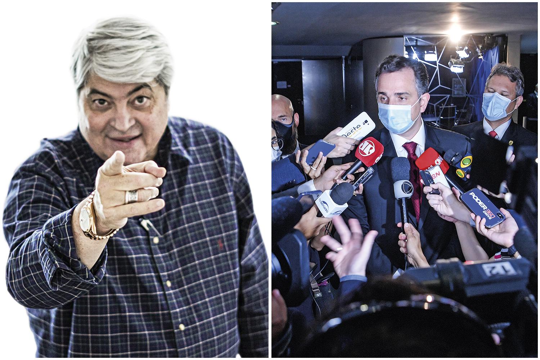 NO PÁREO- Datena e Pacheco: o apresentador e o comandante do Senado estão entre os presidenciáveis de PSL e DEM -