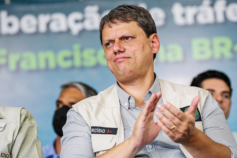 AGENDA CHEIA -O ministro Tarcísio de Freitas: reuniões com investidores globais -