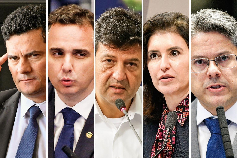 ABNEGADOS -Sergio Moro (sem partido), Rodrigo Pacheco (DEM), Luiz Mandetta (DEM), Simone Tebet (MDB) Alessandro Vieira (Cidadania): todos eles foram anunciados como potenciais candidatos à Presidência da República. O escolhido será o que tiver os melhores índices em janeiro -