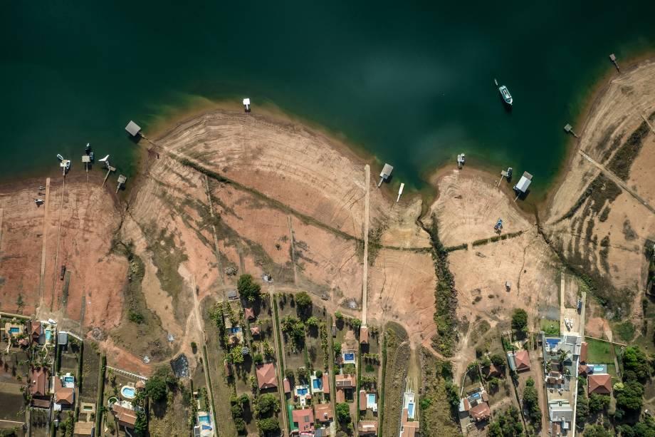 Vista aérea da região de Sao José da Barra/MG -