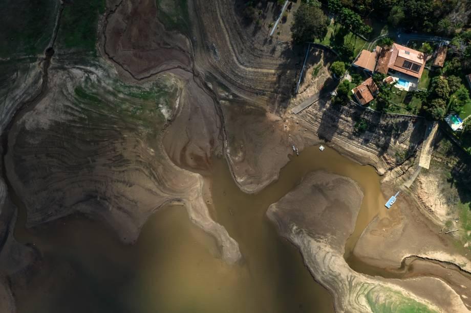 Vista aérea da região de Capitólio/MG -