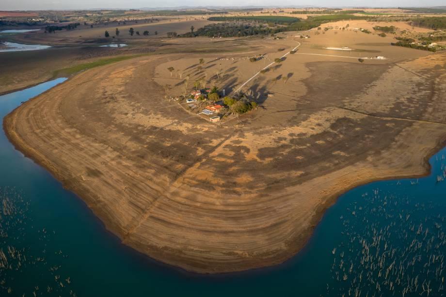 Vista aérea da região de Formiga/MG -