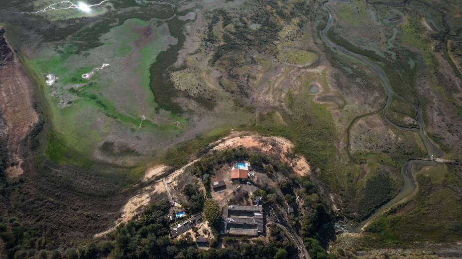 Vista aérea da região de Carmo do Rio Claro/MG -