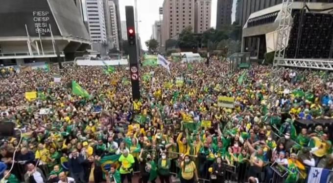 Manifestação em favor do voto impresso, na Avenida Paulista – 02.08.2021