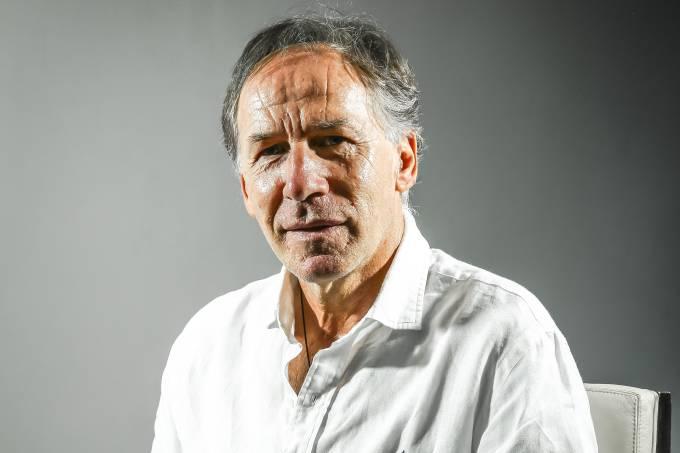 Franco Baresi, ex-jogador italiano, durante entrevista em São Paulo