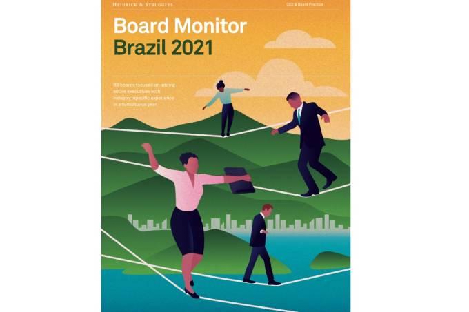 Capa do estudo da Heidrick & Struggles sobre os conselhos de empresas brasileiras