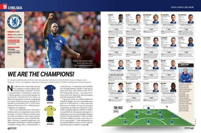 As fichas do Chelsea, o atual campeão europeu, agora com Lukaku