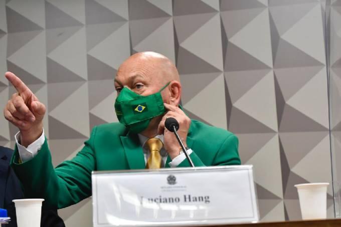 Luciano Hang durante seu depoimento à CPI da Pandemia – 29/09/2021 –