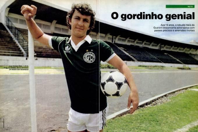 """Neto, o """"gordinho genial"""" do Guarani em edição de 1985"""