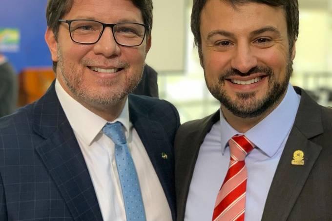 O secretário da Cultura, Mário Frias, e o agora ex-secretário de Comunicação institucional, Felipe Pedri