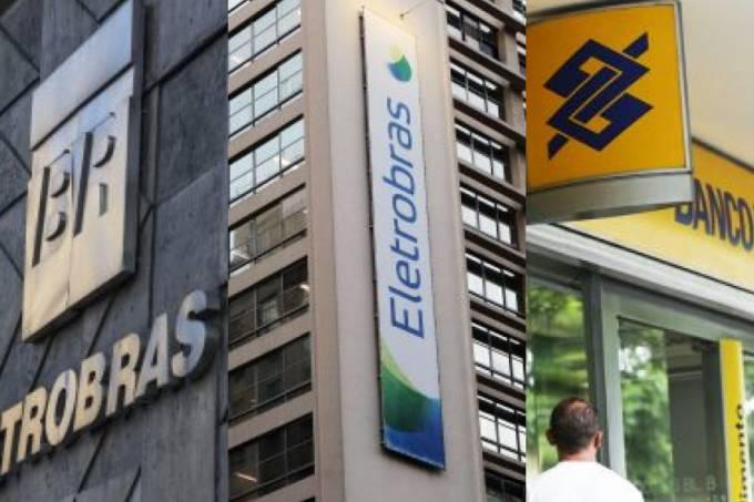 Petrobras, Eletrobras e Banco do Brasil