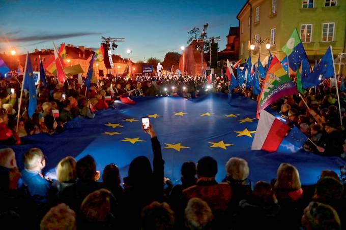 Pro-EU demonstration in Warsaw