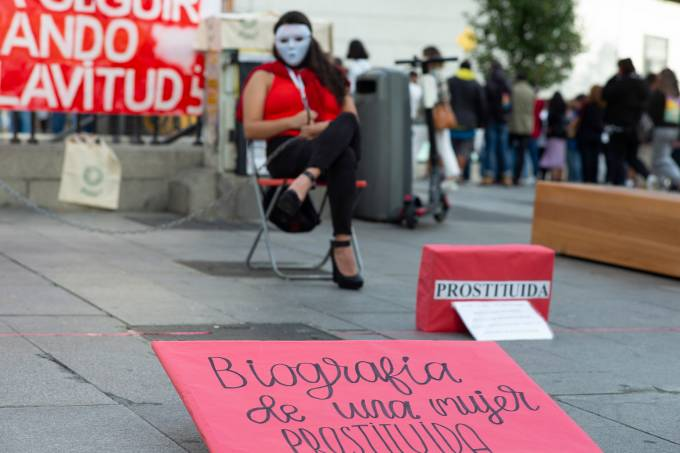 Performance To Demand The Abolition Of Prostitution In Spain