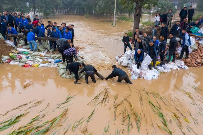 Flood Peak Hit Yuncheng City