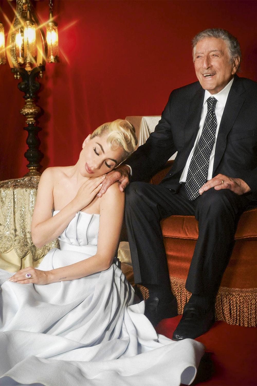 DUETOS - Lady Gaga e Tony Bennett: ele só lembrou o nome da parceira nos últimos shows -